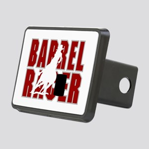 BARREL RACER [maroon] Rectangular Hitch Cover